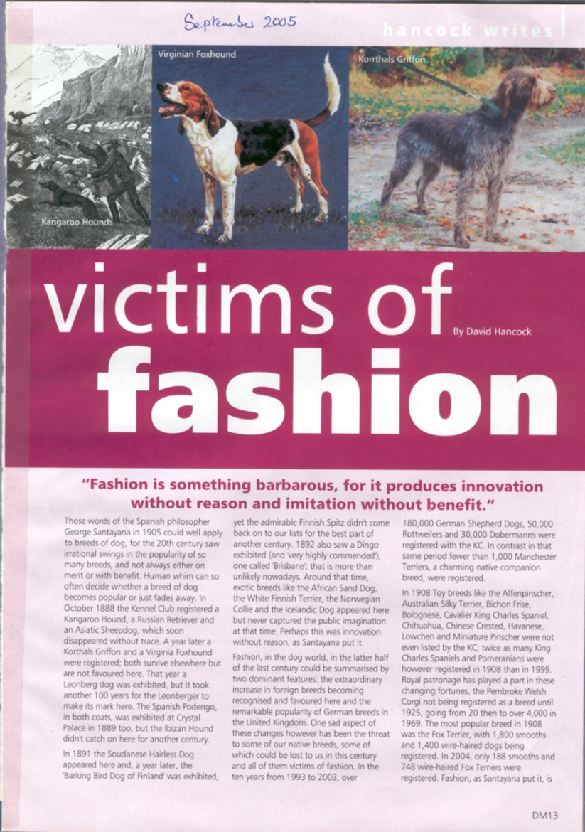 Fashion Victims Articles
